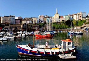 Tenby Harbour Caldey Boat_compressed